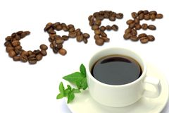 Coffee and coffee beans Stock Photography