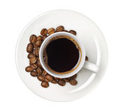 Coffee and coffee beans Stock Photos
