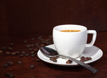 Coffee with coffee-beans Stock Images