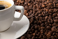 Coffee with coffee-beans Stock Photo