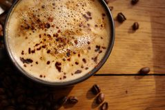 Coffee and coffee beans royalty free stock image