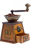 Of coffee. coffee beans and coffee grinder Stock Photo