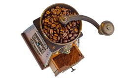 Coffee. coffee beans and coffee grinder Royalty Free Stock Photography