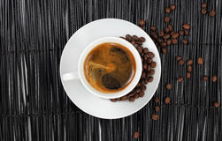 Coffee with coffee beans Stock Photography