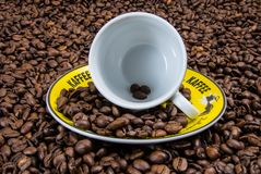 Coffee, Coffee Cup, Coffee Beans Stock Image