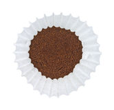 Coffee in coffee filter Stock Image