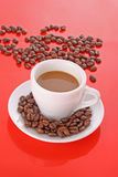 Coffee with coffee grain Stock Photography