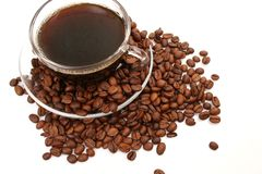 Coffee and coffee grains Stock Photo