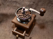 Coffee in a coffee grinder Royalty Free Stock Photos