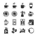 Coffee and coffee machine icons Stock Photos