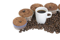 Coffee  and Coffee Muffins Stock Photo