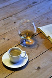 Coffee and Cognac Royalty Free Stock Photography