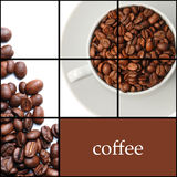 Coffee collage. Background consist the Coffee collage Royalty Free Stock Photos