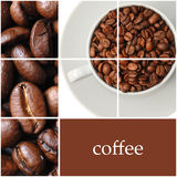 Coffee collage. Space for text Stock Image
