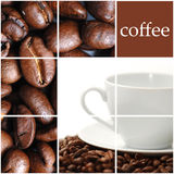 Coffee collage. Cpace for sample text Stock Photography