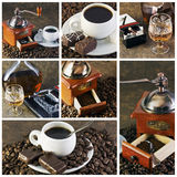 Coffee collage Royalty Free Stock Photos
