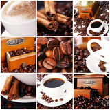 Coffee Collage. Collage of different photos with coffee Stock Photo