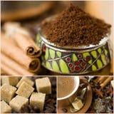Coffee collage Stock Photos