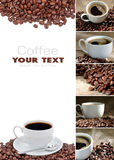 Coffee collage. Is from seven parts Stock Photography