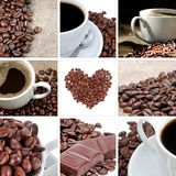 Coffee collage. Witch nine elements Stock Images