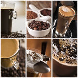 Coffee collage. Collage with different types of coffee Stock Photo