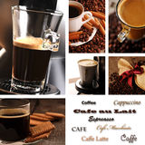 Coffee collage. With sort of coffee Stock Photo
