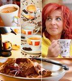 Coffee Collage. Separated with a white line Royalty Free Stock Photography