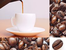 Coffee - collage of pictures Stock Images