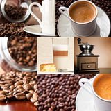 Coffee - collage of six photos Royalty Free Stock Image
