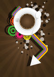 Coffee color graphic Stock Images