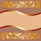 Coffee Colored Frame. An illustrated background of a coffee colored frame with a vintage floral design royalty free illustration