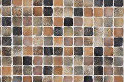 Coffee-colored mosaic background Stock Images