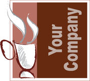 Coffee company. A mug coffee company logo stock illustration