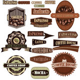Coffee company brown Royalty Free Stock Images