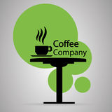 Coffee company symbol Stock Photo