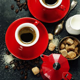 Coffee composition Stock Images