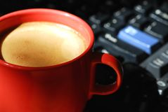 Coffee computer Stock Photography
