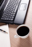 Coffee and computer - break in office Stock Photo