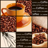 Coffee concept. Collections of coffee images stock photos