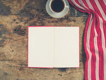 Coffee concept with cup and book Royalty Free Stock Photography