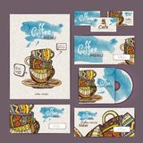 Coffee concept design. Corporate identity Stock Images