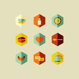 Coffee concept flat icons design Stock Photography