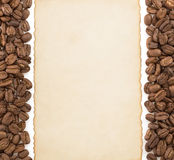 Coffee concept and parchment royalty free stock photo