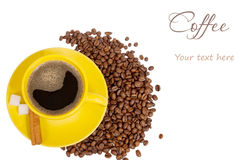 Coffee concept with the place for text Stock Photography