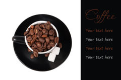 Coffee concept with the place for your text Stock Photos