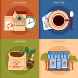 Coffee Concept Set Stock Images