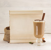 Coffee concept on wood Royalty Free Stock Photo