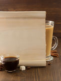 Coffee concept on wood Stock Photo