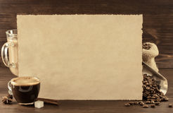 Coffee concept on wood Stock Photography
