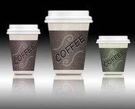 Coffee containers. Royalty Free Stock Photography